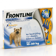 Frontline spot on hond medium 4 pipetten