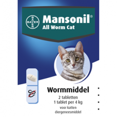 Mansonil all worm tablet tot 4kg